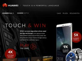 Campagne website Huawei Mate S